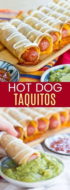 Mexican Hot Dogs Baked Taquitos Recipe #HotDog