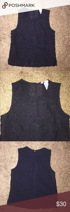 H&M Blouse Size 2 Brand new. Bought it and did not fit. Lace navy Blouse. Size 2🎈Make an offer 🎈accepts most offers H&M Tops Blouses