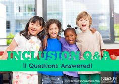 Inclusion Q&A: 11 Common Questions Answered by two top inclusion experts! Inclusive Education, Question And Answer, Special Education, Student, Teaching, School, Books, Kids, Top