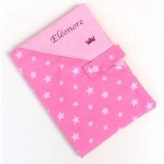 Protège carnet de santé personnalisé rose - cadeau de naissance bébé fille