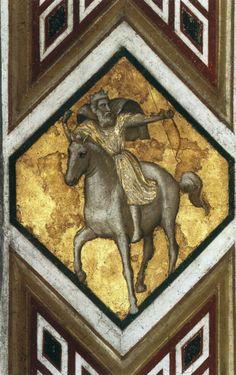 Giotto di Bondone (Italian artist, 1267-1337). Horseman of the Apocalypse c. 1320 Fresco Lower Church, San Francesco, Assisi  1000*1569 True Color 218 Kb      Horseman of the Apocalypse