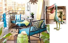 Love these small patio ideas from Pier 1. Now all we need is a balcony!