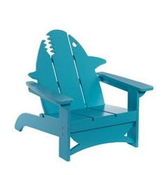 These guys have an great selection of modified adirondack chairs including this wonderful shark one.  Go to shark-adirondack-from-lands-end to see more.