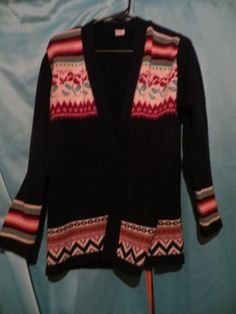 vintage 70s hippie cardigan sweater  JACKET by Linsvintageboutique
