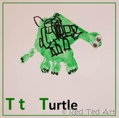 Red Ted Art's Blog » Blog Archive Handprint Alphabet - T for....Turtle » Red Ted Art's Blog