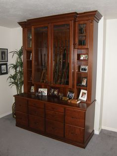 Gun Cabinet | Lewis Custom Woodwork | Custom Cabinets | Northern Utah