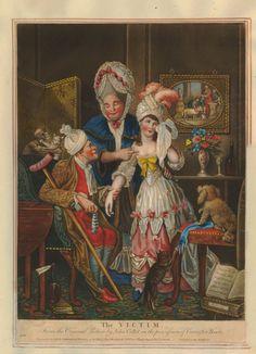 The Victim, John Collet, British Museum, 1780 Hand-coloured mezzotint  Museum number 1935,0522.1.199