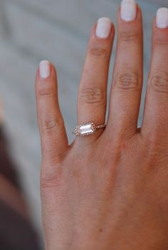 on hold till 29th Peach Champagne Sapphire Ring by EidelPrecious