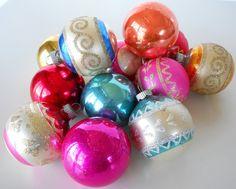 'shiny brite' glass ornaments - still collecting.
