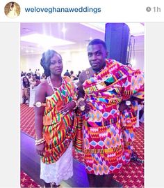 Love Ghanaian traditional kente clothes ❤️