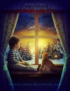 Waiting for Christmas - Secret Santa by Wesley-Souza on DeviantArt