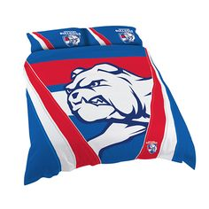 Australia's largest range of Western Bulldogs AFL Licensed Quilt Duvet Doona Bedding Cover Sets. Boys Single Bed, Bed Covers, Pillow Covers, Queen Bed Quilts, Westerns, Western Bulldogs, Quilt Cover Sets, Quilt Bedding, King Beds