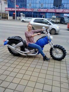 Любителям мотоциклов- Харлей-Девинсон из шаров.