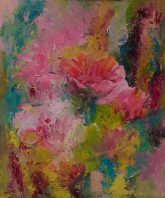Colours of life Canvas Oil paints Flowers by MandalaSvetlanaBarba