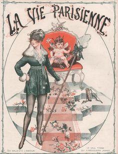 Chéri Hérouard (1881 - 1961). La Vie Parisienne, Février 1919. [Pinned Dec 2014]
