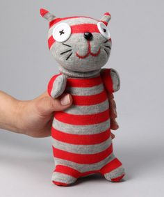 Stripe Cat Sock Doll from NO3NO4 on #zulily