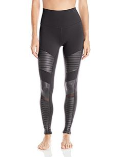 d3d16199d61a7 Alo Yoga Women's High Waisted Moto Legging at Amazon Women's Clothing store: