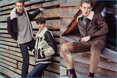 Lucas Dambros and Mihai Bran tackle the shearling outerwear trend for Men's…