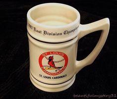 "1987 EAST DIVISION CHAMPIONS ST LOUIS CARDINALS MLB 5.50"" CERAMIC BEER MUG STEIN #Unbranded #StLouisCardinals"