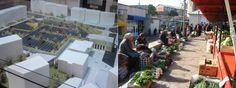 Reconstructia Pietei Centrale (fosta Vidin) din Vaslui se apropie de final...  -Imagini video- http://tesalut.ro/vaslui/?kid=1071  In imagine aveti o vedere de ansamblu cu proiectul pietei si un instantaneu de demult cu precupete in fosta Piata Vidin...  (video by v24tv.ro)