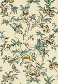 GISELLE, Beige, T14226, Collection Imperial Garden from Thibaut