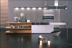 Boffi Kitchen - Not exactly my style, but I like elements of the island.