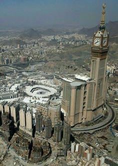 Dry areas around the mosque.