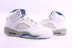 new release white blue retro jordan v shoes