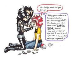 Andy and Gerard... I laughed way too much at this. XD I love this more than life