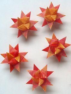 en papier étoile chez l'atelier de Jojo qui nous renvoie vers BlueMarguerite