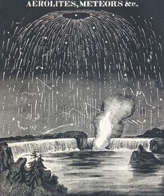 Antique Celestial Print Smith's Illustrated by TheBlueTwig on Etsy, meteor shower
