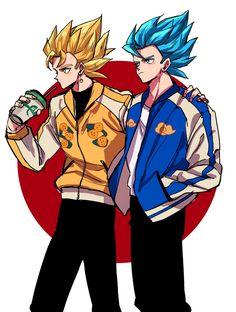 Gogeta and vegitto.. Dragon Ball Z, Dragon Ball Image, Fire Drawing, Ball Drawing, Female Goku, Hero Fighter, Chibi, Gogeta And Vegito, Animation Film