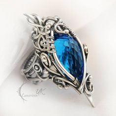 DeviantArt: More Collections Like Custom order by Pinkabsinthe Wire Jewelry Rings, Metal Bracelets, Stone Jewelry, Metal Jewelry, Jewelry Art, Jewelry Design, Jewlery, Silver Jewelry, Fantasy Jewelry