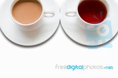 Cup Of Tea And Coffee: coffee in the morning and tea in the afternoon