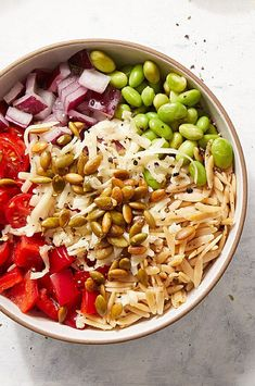 A light and creamy green-salsa dressing highlights this easy pasta salad with Southwestern flavors. #salads #saladrecipes #healthysalads #saladideas #healthyrecipes