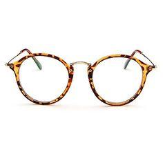 Forepin Lunettes de Vue Rondes Unisex Cadre Frame Lentille Claire pour Homme  et Femme Vintage - a981d5f5c205