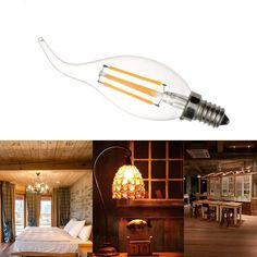 4W FC35 LED Filament Bulb Light AC220-240V E14 Base Vintage Retro Holiday Festival Decorations Warm White