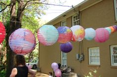 Lantern craft for Rapunzel party