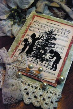 The Creative Patch -- sheet music behind a silhouette.