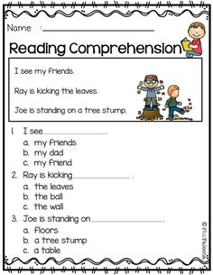Free reading comprehension is suitable for kindergarten students or beginni Kindergarten Morning Work, Kindergarten Reading, Reading Activities, Kindergarten Worksheets, Kindergarten Classroom, Reading Skills, Reading Comprehension Worksheets, Comprehension Questions, English Reading