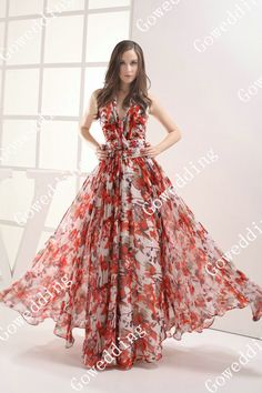 Free Shipping 2013 charming sexy style multicolour print fabric halter beaded full length prom dance evening dresses gowns D435-in Prom Dresses from Apparel & Accessories on Aliexpress.com $149.69