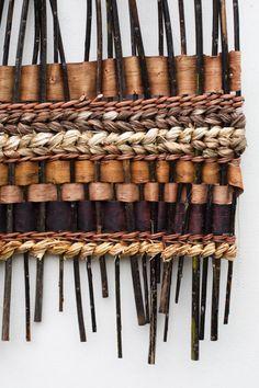 tim johnson - 'mountainscape' detail 2 via harriet goodall - random weaving