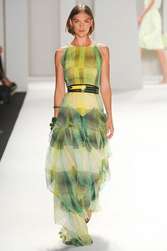 """I absolutely LOVE this! The pattern screams """"tech,"""" yet the girly skirt is ruffled. LOVE."""