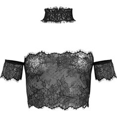 Ayana White Eyelash Lace Bralet Crop Top Choker ($21) ❤ liked on Polyvore featuring tops, shirts, white crop shirt, white tops, shirt crop top, shirt top and cut-out crop tops