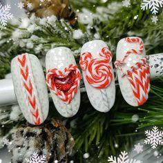 Winter Nail Designs, Christmas Nail Designs, Christmas Nail Art, Nail Art Designs, Xmas Nails, Holiday Nails, Nail Art Wheel, Nail Art Techniques, Super Cute Nails