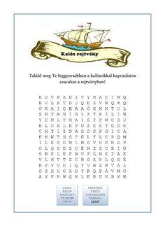 Nyomtatható szókereső rejtvény - Kalóz bulira-page-001 Dysgraphia, Dyslexia, Birthday Party Games, Math For Kids, Special Education, Elementary Schools, Language, Classroom, Teaching