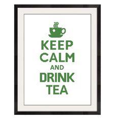 KEEP CALM AND DRINK TEA - CROSS STITCH PATTERN - PDF FORMAT