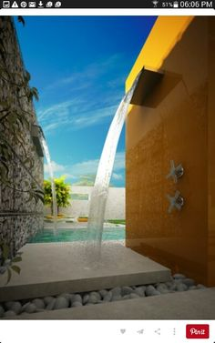Outdoor Shower, Mediterranean Private Garden Design by Antoaneta Yordanova. The surrounding rocks are beautiful as well