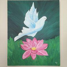"""""""L'envol de la colombe"""" symbole de la pureté, de la liberté.  #expressiondesoi. Si vous aimez, partagez et aimez ma page !  D'autres peintures à suivre :) Painting, Art, Animaux, Drawing Drawing, Craft Art, Paintings, Kunst, Gcse Art, Draw"""