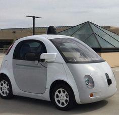 A self-driving car at the Googleplex